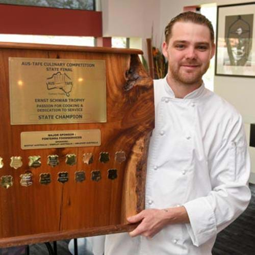 Jakeb Jesser Wins Best Apprentice in Commercial Cookery