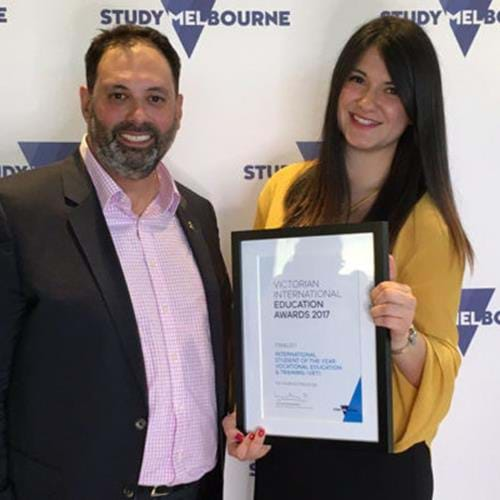 International Civil Engineering student shines in Victorian training awards
