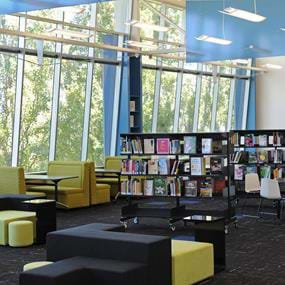 Couches in Melbourne Polytechnic's Greensborough Library